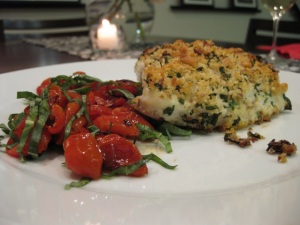 Halibut and Tomatoes